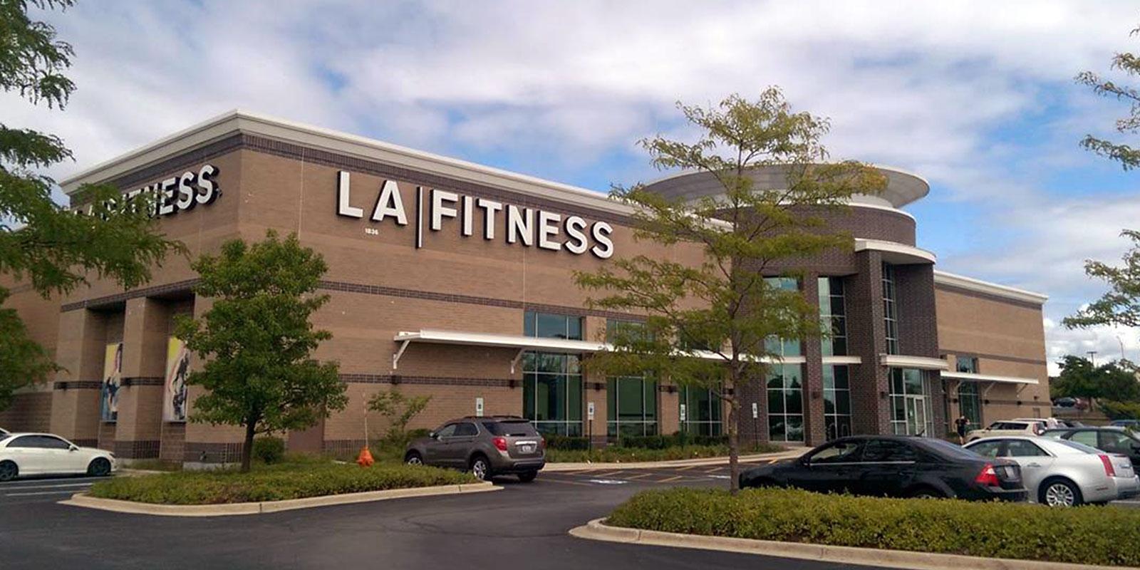 Exterior of LA Fitness