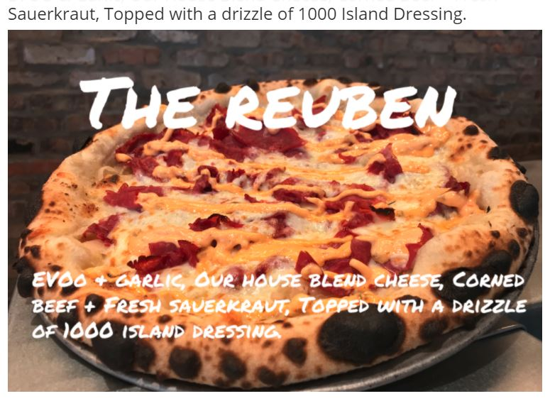 The Reuben! Pizza of the Month