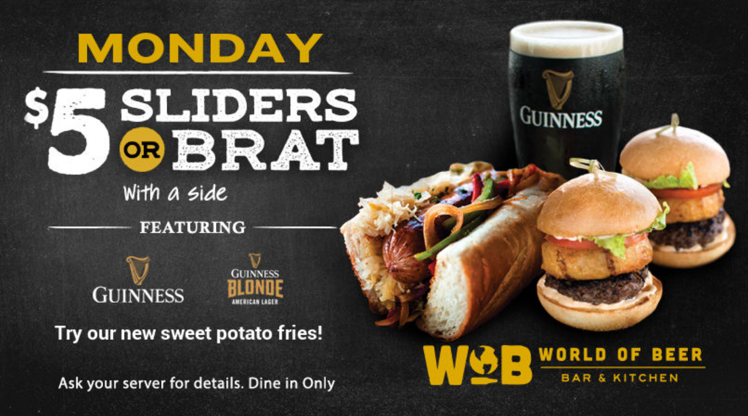 Monday Special – Sliders or Brats